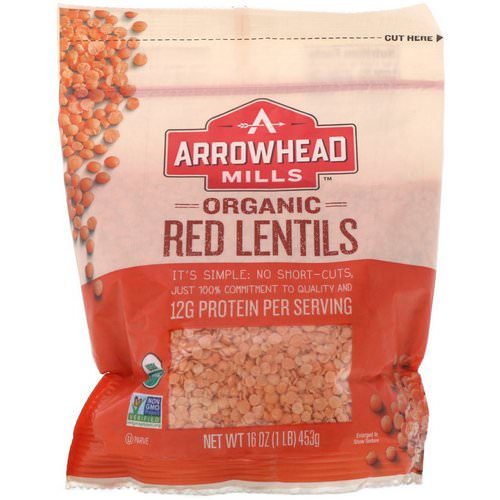Arrowhead Mills, Organic Red Lentils, 16 oz (453 g) Review