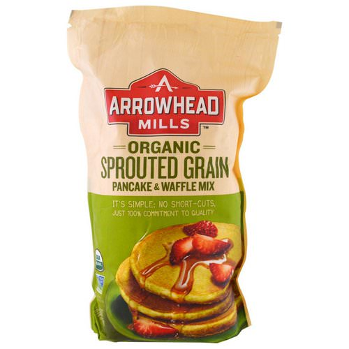 Arrowhead Mills, Organic Sprouted Grain Pancake & Waffle Mix, 1.6 lbs (737 g) Review