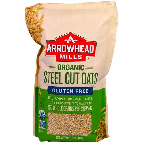 Arrowhead Mills, Organic Steel Cut Oats, Gluten Free, 1.5 lbs (680 g) Review