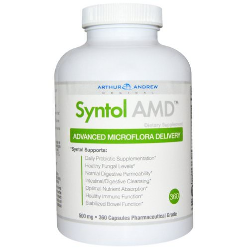 Arthur Andrew Medical, Syntol AMD, Advanced Microflora Delivery, 500 mg, 360 Capsules Review