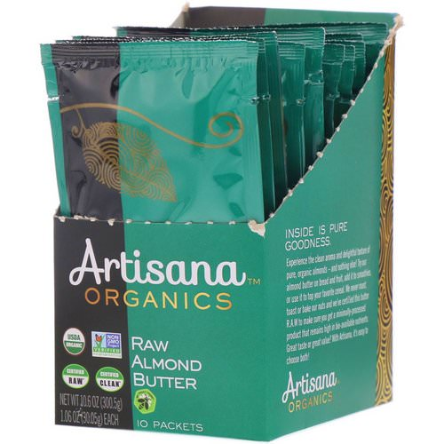 Artisana, Organics, Raw Almond Nut Butter, 10 Packets, 1.06 oz (30.05 g) Each Review