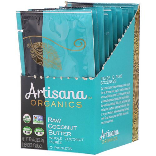 Artisana, Organics, Raw Coconut Butter, 10 Packets, 1.06 oz (30.05 g) Each Review