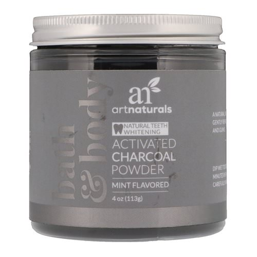 Artnaturals, Activated Charcoal Powder, Mint Flavored, 4 oz (113 g) Review