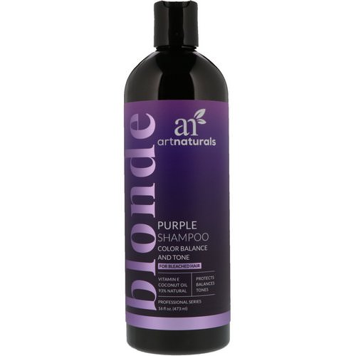 Artnaturals, Purple Shampoo, Color Balance and Tone, 16 fl oz (473 ml) Review