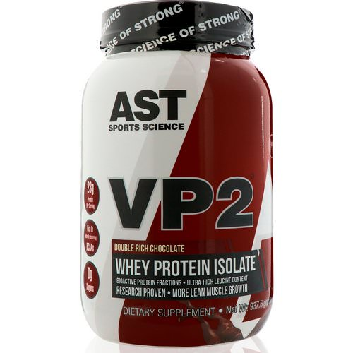 AST Sports Science, VP2, Whey Protein Isolate, Double Rich Chocolate, 2.07 lbs (937.6 g) Review