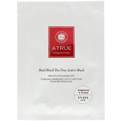 ATrue, Real Black Tea True Active Mask, 1 Mask, 0.88 oz (25 g) Review