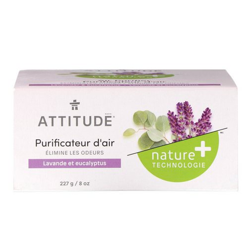 ATTITUDE, Natural Air Purifier, Lavender & Eucalyptus, 8 oz (227 g) Review
