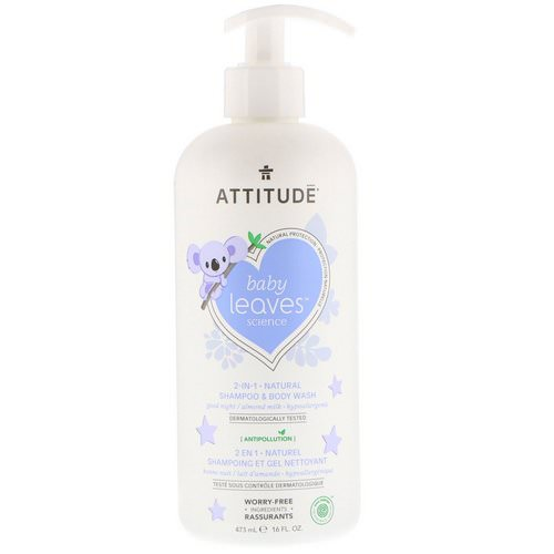 ATTITUDE, Baby Leaves Science, 2-In-1 Natural Shampoo & Body Wash, Almond Milk, 16 fl oz (473 ml) Review