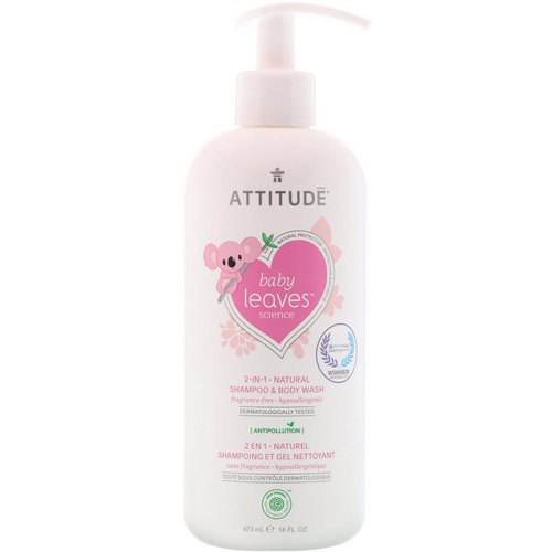 ATTITUDE, Baby Leaves Science, 2-In-1 Natural Shampoo & Body Wash, Fragrance-Free, 16 fl oz (473 ml) Review