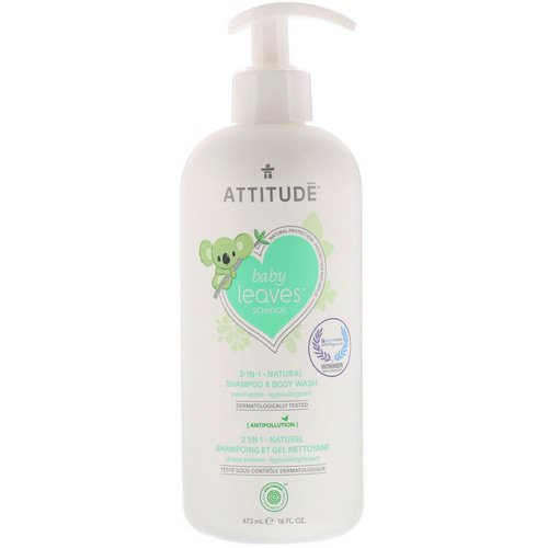 ATTITUDE, Baby Leaves Science, 2-In-1 Natural Shampoo & Body Wash, Sweet Apple, 16 fl oz (473 ml) Review