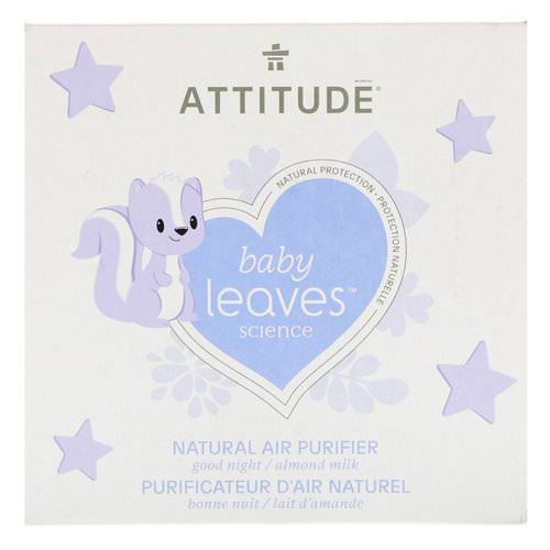 ATTITUDE, Baby Leaves Science, Natural Air Purifier, Almond Milk, 8 oz (227 g) Review