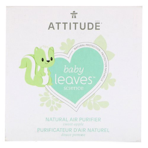 ATTITUDE, Baby Leaves Science, Natural Air Purifier, Sweet Apple, 8 oz (227 g) Review