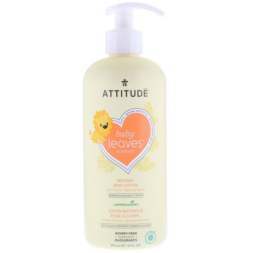 ATTITUDE, Baby Leaves Science, Natural Body Lotion, Pear Nectar, 16 fl oz (473 ml) Review