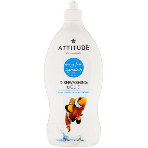 ATTITUDE, Dishwashing Liquid, Wildflowers, 23.7 fl oz (700 ml) Review