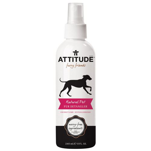 ATTITUDE, Furry Friends, Natural Pet Fur Detangler, Coconut Lime, 8 fl oz (240 ml) Review