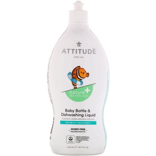 ATTITUDE, Little One, Baby Bottle & Dishwashing Liquid, Pear Nectar, 23.7 fl oz (700 ml) Review