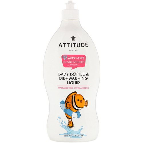 ATTITUDE, Little Ones, Baby Bottle & Dishwashing Liquid, Fragrance-Free, 23.7 fl oz (700 ml) Review