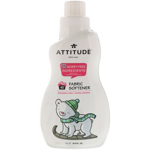 ATTITUDE, Little Ones, Fabric Softener, Fragrance-Free, 40 Loads, 33.8 fl oz (1 L) Review