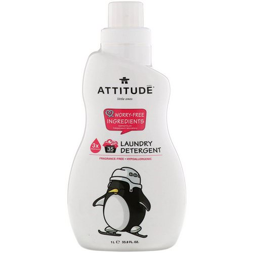ATTITUDE, Little Ones, Laundry Detergent, Fragrance-Free, 33.8 fl oz (1 l) Review