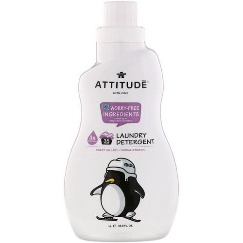 ATTITUDE, Little Ones, Laundry Detergent, Sweet Lullaby, 33.8 fl oz (1 l) Review