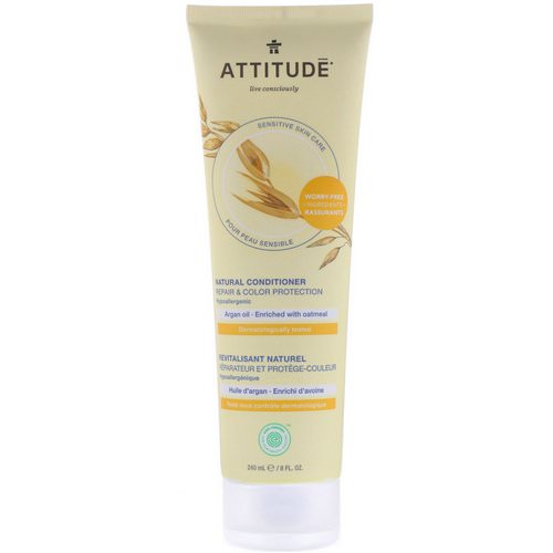 ATTITUDE, Natural Conditioner, Repair & Color Protection, Argan Oil, 8 fl oz (240 ml) Review
