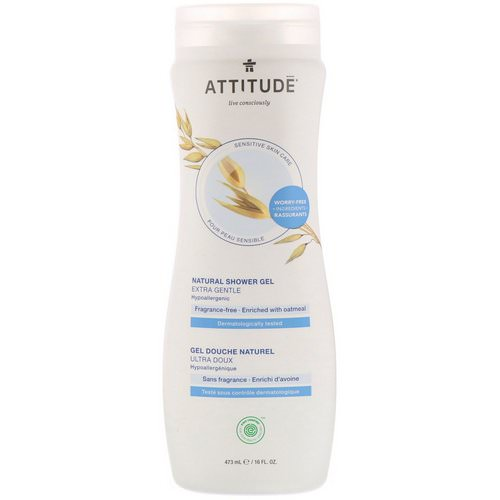ATTITUDE, Natural Shower Gel, Extra Gentle, Fragrance-Free, 16 fl oz (473 ml) Review