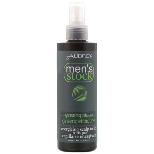 Aubrey Organics, Men's Stock, Energizing Scalp Tonic, Ginseng Biotin, 8 fl oz (237 ml) Review