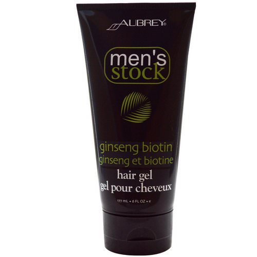 Aubrey Organics, Men's Stock, Hair Gel, Ginseng Biotin, 6 fl oz (177 ml) Review