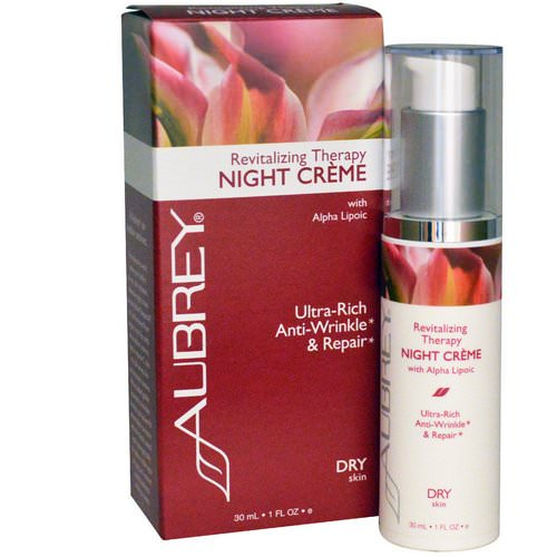 Aubrey Organics, Revitalizing Therapy Night Cream, Dry Skin, 1 fl oz (30 ml) Review