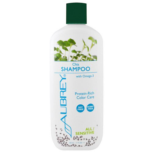 Aubrey Organics, Shampoo, Color Care, All/Sensitive, Chia, 11 fl oz (325 ml) Review