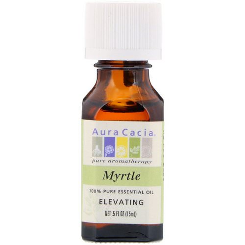 Aura Cacia, 100% Pure Essential Oil, Myrtle, Elevating, .5 fl oz (15 ml) Review
