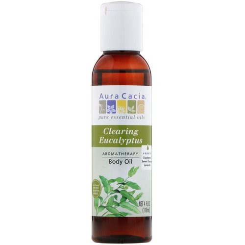 Aura Cacia, Aromatherapy Body Oil, Clearing Eucalyptus, 4 fl oz (118 ml) Review