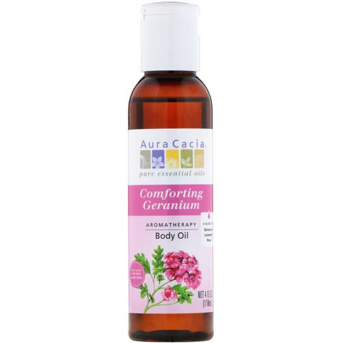 Aura Cacia, Aromatherapy Body Oil, Comforting Geranium, 4 fl oz (118 ml) Review