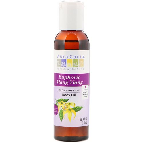 Aura Cacia, Aromatherapy Body Oil, Euphoric Ylang Ylang, 4 fl oz (118 ml) Review