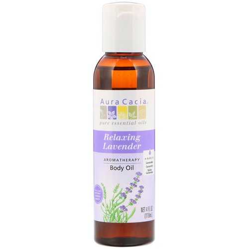 Aura Cacia, Aromatherapy Body Oil, Relaxing Lavender, 4 fl oz (118 ml) Review