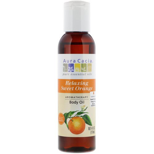 Aura Cacia, Aromatherapy Body Oil, Relaxing Sweet Orange, 4 fl oz (118 ml) Review