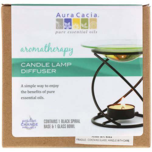 Aura Cacia, Aromatherapy Candle Lamp Diffuser, 2 Piece Review