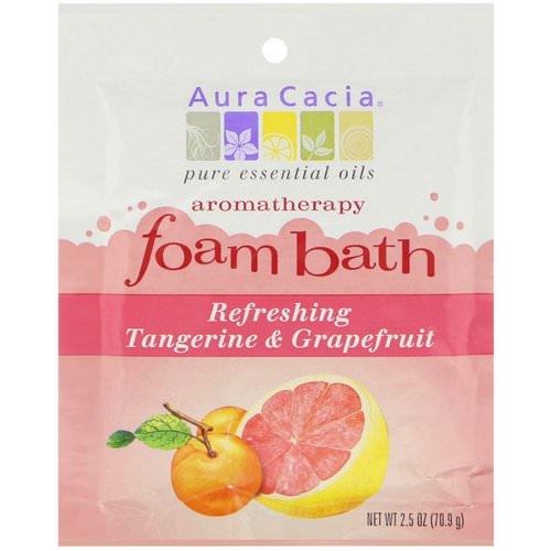 Aura Cacia, Aromatherapy Foam Bath, Refreshing Tangerine & Grapefruit, 2.5 oz (70.9 g) Review