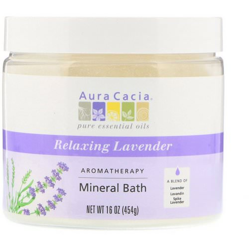 Aura Cacia, Aromatherapy Mineral Bath, Relaxing Lavender, 16 oz (454 g) Review