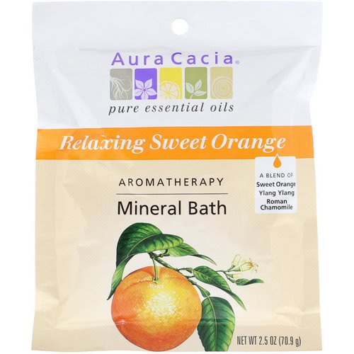 Aura Cacia, Aromatherapy Mineral Bath, Relaxing Sweet Orange, 2.5 oz (70.9 g) Review