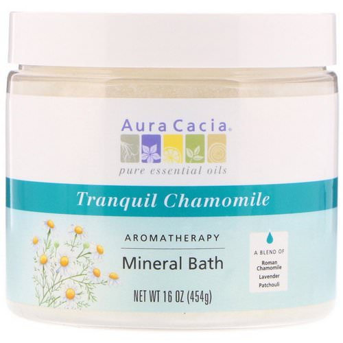 Aura Cacia, Aromatherapy Mineral Bath, Tranquil Chamomile, 16 oz (454 g) Review