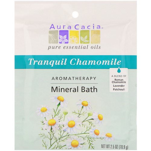 Aura Cacia, Aromatherapy Mineral Bath, Tranquil Chamomile, 2.5 oz (70.9 g) Review