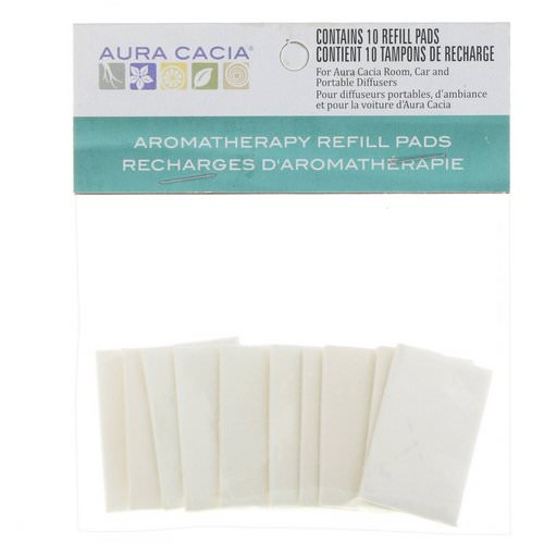 Aura Cacia, Aromatherapy Refill Pads, 10 Refill Pads Review