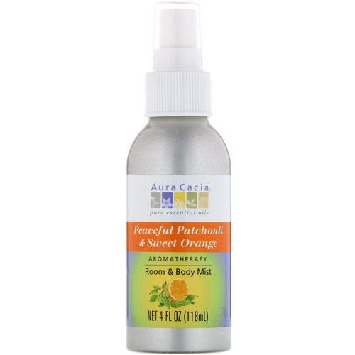 Aura Cacia, Aromatherapy Room & Body Mist, Peaceful Patchouli & Sweet Orange, 4 fl oz (118 ml) Review