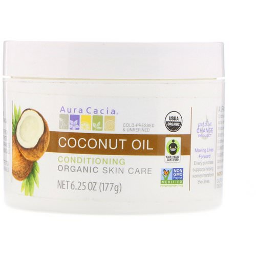 Aura Cacia, Conditioning Organic Skin Care, Coconut Oil, 6.25 oz (177 g) Review