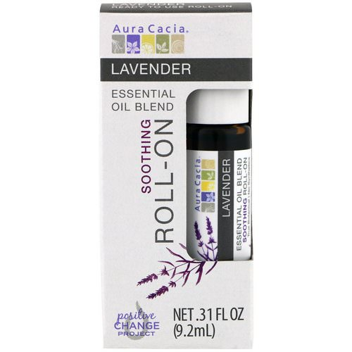 Aura Cacia, Essential Oil Blend, Soothing Roll-On, Lavender, .31 fl oz (9.2 ml) Review