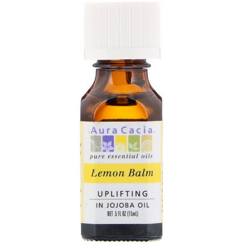 Aura Cacia, Pure Essential Oils, Lemon Balm, Uplifting, .5 fl oz (15 ml) Review