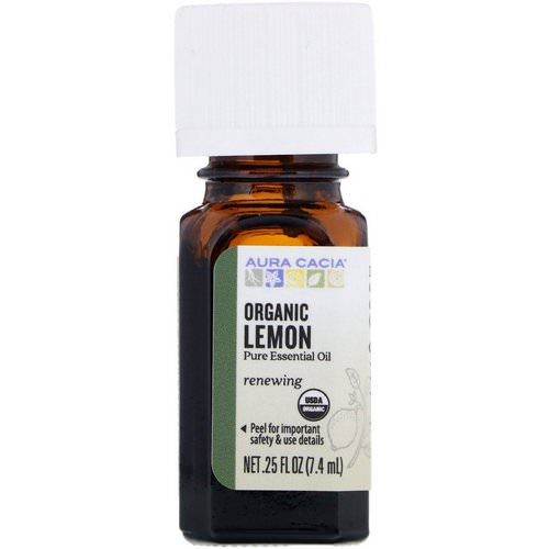 Aura Cacia, Organic Lemon, .25 fl oz (7.4 ml) Review