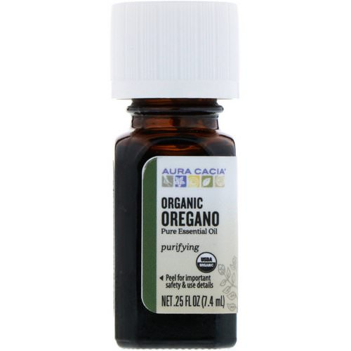 Aura Cacia, Organic Oregano, .25 fl oz (7.4 ml) Review