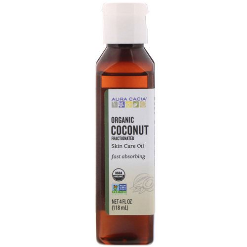 Aura Cacia, Organic Skin Care Oil, Coconut Oil, Fractionated, 4 fl oz (118 ml) Review
